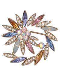 J.Jayz JJayz Brosche spiralförmige Optik Steine in Mandelform - Mehrfarbig