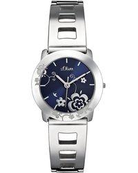 S.oliver Quarzuhr »Armbanduhr« - Blau