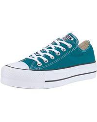 Converse Sneakers Chuck Taylor All Star Platform Ox - Groen