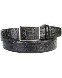 Anthoni Crown Ledergürtel für Anzüge in Dunkelblau - Mehrfarbig