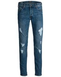 Jack & Jones GLENN ORIGINAL AM 739 CAMP Slim Fit Jeans - Blau