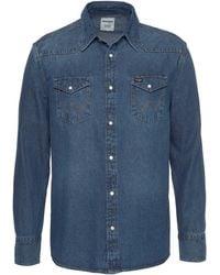 Wrangler Jeanshemd »Western Shirt« - Blau