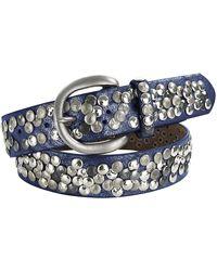 heine Gürtel mit Metallnieten - Blau