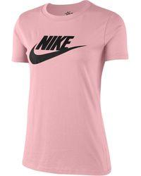 Nike T-Shirt »W NSW TEE ESSNTL ICON FUTURA« - Pink