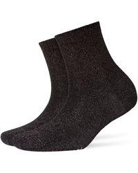 Burlington Socken Ladywell (1 Paar) - Schwarz
