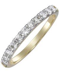 Firetti Verlobungsring »Vorsteckring, Gelbgol, 2 mm breit«, mit Diamanten - Mettallic