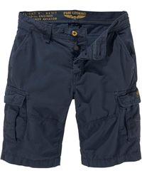 PME LEGEND Cargoshorts mit praktischen Taschen - Blau