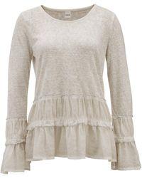 heine CASUAL Pullover mit Schößchen und Effektgarn - Mehrfarbig
