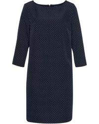 Tom Tailor Jerseykleid mit Reißverschluss hinten - Blau