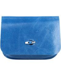 b.belt Gürteltasche Leder 17 cm - Blau