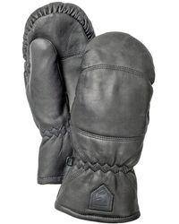 Hestra Handschuhe »Leather Box Mittens« - Schwarz
