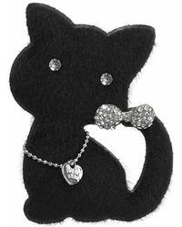 J.Jayz Brosche »Katze mit Anstecknadel« (1-tlg), mit Glassteinen - Mehrfarbig