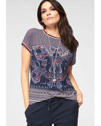 Olsen - Print-Shirt mit angesagtem Muster-Mix - Lyst