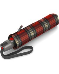 Knirps Taschenregenschirm »TS. 200 Medium Duomatic check red« - Rot
