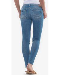 Le Temps Des Cerises 7/8-Jeans »POWERC EVORA« mit Destroyed-Effekten - Blau
