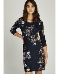 Apricot - Druckkleid »Floral Silhouette Tunic Dress« mit Blumendruck - Lyst