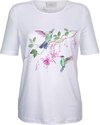 Paola - Shirt mit platziertem Druck - Lyst