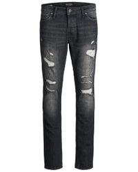 Jack & Jones GLENN ORIGINAL AM 749 CAMP Slim Fit Jeans - Schwarz