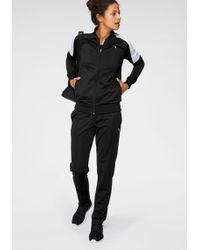 PUMA Trainingsanzug »Clean Tricot Suit Op« (Set, 2 tlg) - Schwarz