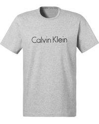 Calvin Klein Shirt Met Ronde Hals - Grijs