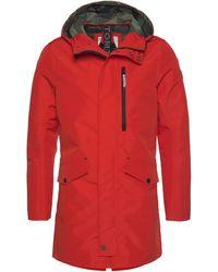 Tom Tailor Allwetterjacke mit Kapuze und Reißverschluss - Rot