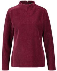 Taifun T-Shirt Langarm Rundhals »Longsleeve aus weichem Jersey-Cord« - Rot