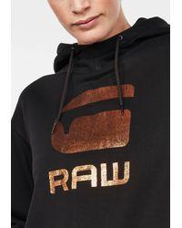 G-Star RAW Sweatshirt »Graphic 21 Lynaz Pullover« mit G-Star Folien Grafik vorne - Schwarz