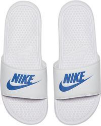 Nike »Benassi Just do it« Badesandale - Blau
