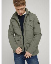 Tom Tailor Denim Field-jacket Feldjacke Mit Stehkragen - Groen
