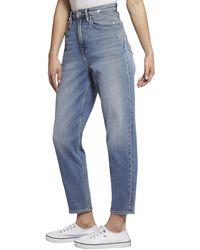 Tommy Hilfiger 5-Pocket-Jeans »HIGH RISE TAPERED TJ 2004 ACMBC« mit Leo-Print Taschenfutter - Blau