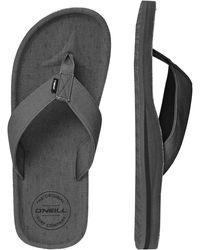 O'neill Sportswear Zehentrenner »Fm chad pattern« - Grau