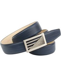 Anthoni Crown Ledergürtel im trendigen Blauton - Mehrfarbig