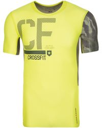 Reebok CrossFit Compression Trainingsshirt Herren - Gelb