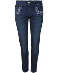 Blue Monkey 5-Pocket-Jeans »LAURA« mit Glitzersteinchen - Blau