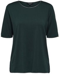 SELECTED - Locker geschnittenes T-Shirt - Lyst