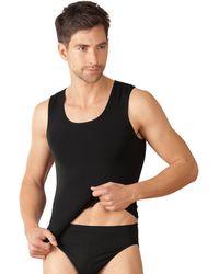 Trigema Nu 21% Korting: Unisex-shirt Met Bandjes - Zwart