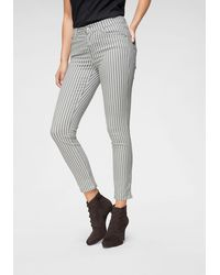 ANGELS Ankle Jeans Skinny Ankle Stripe - Grijs