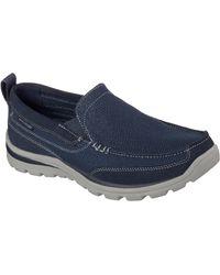 Skechers Nu 21% Korting: Slip-on Sneakers Superior - Blauw