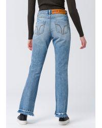 d00b047a373d Bootcut-Jeans »DENIM TROUSERS« im modischen Used-Look - Blau