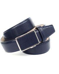 Anthoni Crown Ledergürtel für blaue Schuhe mit perforiertem Leder