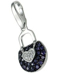 GIORGIO MARTELLO MILANO Charm-Einhänger »Tasche mit Zirkonia Steinen, Silber 925« - Blau