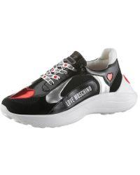 Love Moschino Sneaker im trendigen Kontrastlook - Schwarz