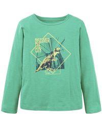 Tom Tailor T-Shirt »Langarmshirt mit Print« - Grün