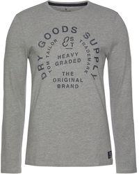 Tom Tailor Print-Shirt mit großem Print - Grau