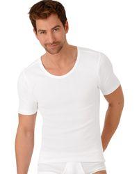 Trigema Nu 21% Korting: Heren Onderhemd Met Half Mouw - Wit