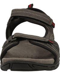 Geox »Lederimitat/Textil« Sandale - Schwarz