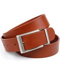 Anthoni Crown Ledergürtel im klassischen Design - Braun