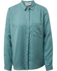 Tom Tailor Hemdbluse mit praktischer Brusttasche - Grün