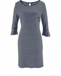 Olsen - Jerseykleid Jerseykleid gestreift mit Volant am Ärmel - Lyst