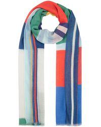 Codello Softer XL-Schal aus Modal und Baumwolle - Blau